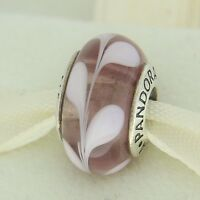 Authentic Pandora 790677 Purple Pink Swirly Swirl Murano Glass Bead Charm