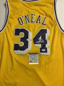 Shaquille O'Neal Signed Jersey PSA/DNA COA Los Angeles Lakers Diesel Hof Adult L
