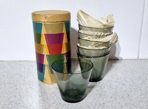 Nuutajarvi notsjo kartio stackable glasses Kaj Franck 1950's original packing