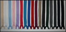 INVISIBLE CONCEALED NYLON ZIPPER / ZIP / ZIPS MANY COLOURS & LENGTHS DRESSES ETC