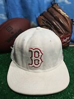Boston Red Sox white new era rare 7 1/2 5950 59fifty Hat Cap Fitted H20
