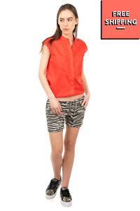 RRP €140 CYCLE Gabardine Shorts Size 30 Stretch Distressed Zebra Pattern Skinny