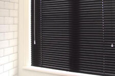 "LOT OF FOUR Aluminum 1"" Blinds ASSORTED SIZES - BLACK"