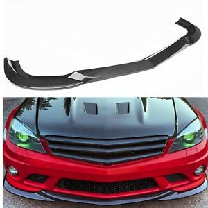 For Mercedes Benz W204 C Class C63 AMG Only Front Bumper Spoiler 2008-2011 AU