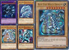 BLUE-EYES WHITE DRAGON Mint 5_Different Artworks CARD SET 1st LDK2 + LC01 YUGIOH