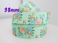 Gorgeous Floral Grosgrain Ribbon Hair Clips Cake Craft Hair Bow By Meter 38mm