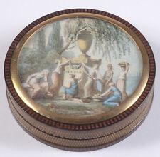 """Round box with mourning scene (Maria Walewska & Napoleon)"", France, ca. 1818"