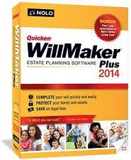 Quicken Willmaker Plus 2014 by Nolo Platform : Windows 7, Windows Vista, Windows