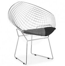Replica Harry Bertoia Diamond Chair - Black