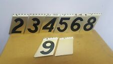"Cole 3"" Gold Anodized Aluminum Numbers, Adhesive"