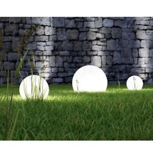 Solar Garden Lamp Ball LED Light Bulbs Decorative Lighting White [S, M, L, XL]