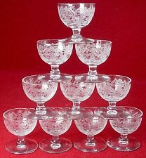 """CENTRAL GLASS crystal GREEK 1236 pattern CORDIAL 1-5/8"""" set of TEN (10)"""