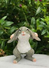 Miniature FAIRY GARDEN Figurine ~ Mini Adorable Gray Bunny Rabbit ~ NEW