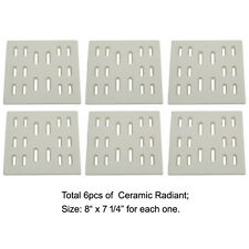 6-pack Replacement Ceramic Radiant Flame Tamer for Bakers and Chefs gas grills