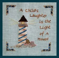 Turquoise Graphics Designs A CHILD'S LAUGHTER... Cross Stitch Chart Only proverb