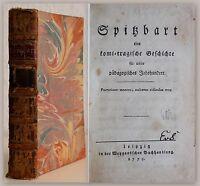 Schummel: Spitzbart, eine komi-tragische Geschichte [...] 1779 Erstausgabe - xz