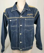 Vintage Johhny Blaze 90s Mens Medium Western Cowboy Dark Denim Jeans Jacket