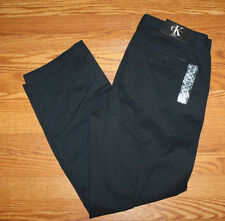 NWT Mens Calvin Klein Navy Blue Lifestyle Slacks Pants 32 W 32 L