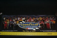 NASCAR Poster 11x34 Goodyear, 2004 Nextel Cup drivers