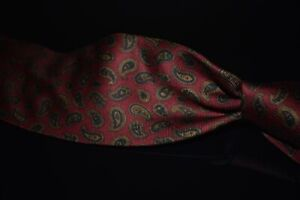 Brooks Brothers Makers Hand Made USA Ancient Madder Red Paisley Silk Tie NR #1