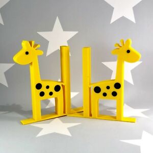 Giraffe Bookends - 3D Printed - Nursery - Childrens Bedroom - Safari Animals
