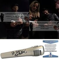 Haley and Michaels Signed Autograph Microphone Country Mic Beckett BAS Proof COA