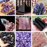 Natural 、、、Purple Amethyst Point Pink ROSE Quartz Healing Crystal Tourmaline
