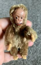Vintage Schuco Mini Blecky Monkey 3.5� Metal Face /Tongue Sticks Out Very Nice!