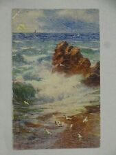 c1908-30 Tuck Oilette Signed Art Postcard Bright and Breezy Unposted England