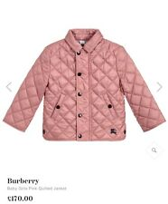 Burberry Girl Coat Pink 3-4 Years Old