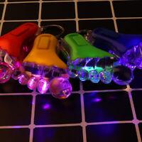 Mini Flashlight Little Feet Shape Cartoon Luminous Key Ring Key Chain LED Light