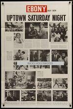 Original UPTOWN SATURDAY NIGHT Sidney Poitier BILL COSBY Ebony Magazine Style