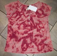 1127  We the People Scoop Neck Button Front Tie Dye Top or Cover Up  XS