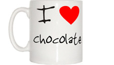 I Love Heart Chocolate Mug