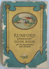 RUMFORD EVERYDAY COOK BOOK FOR THE HOUSEKEEPER AND STUDENT by MARY WILSON