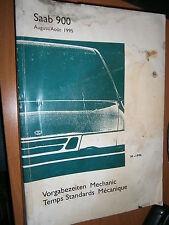 Saab 900 : Temps Standards Mécanique et carrosserie 1996