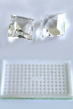 150 Stk. Spinelle - weiß - Carreeschliff - Spinell - Carree - 4 x 4 mm