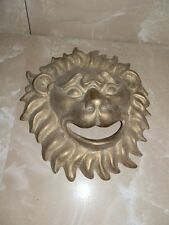 Fat Face Mask Brass Burnished for Fountain Lion Head Garden Furniture