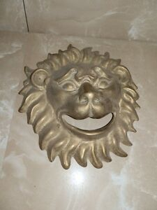 Fat Face Mask Brass Burnished For Fountain Head by Lion Garden Furniture