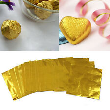 100pcs/pack Candy Package Foil Gold Paper Chocolate Lolly Foil Wrappers Square