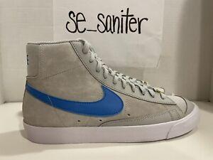 "Nike Blazer Mid '77 NRG EMB ""Coney Island"" Grey Blue CV8927-001 Men's Size 8"