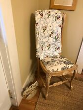 Vintage Fabric Dining Room Chair Covers Pansy And Ribbon Theme
