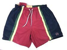Vtg Tommy Hilfiger Trunks Swim Shorts Crest Logo Sz M Multi-Color Stripe G1