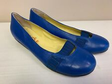YOU BY CROCS Women's Blue Leather Flats Size 8