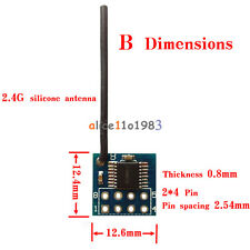 XY-WB 2.54mm Pin 2.4G Wireless Transceiver Module For Model Aircraft Toys 24L01