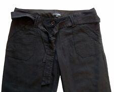 New Womens NEXT Maternity Black Linen Crop Trousers Size 8