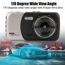 4Inch HD 1080P Car DVR Driving Video Recorder Dual Lens Dash Camera Night Vision