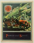 """Vintage 1920s American LaFrance Fire Engine firetruck Brochure """"Power and Speed"""""""