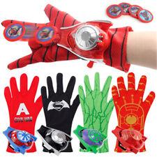 Avengers Superhero Spiderman Iron Man Launcher Glowing Gloves Kid Toys Cosplay