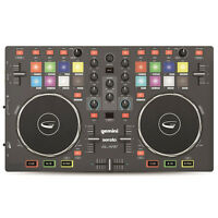 Gemini SLATE 2-Channel Slim 3-Band EQ Effects DJ Controller with Serato DJ Intro